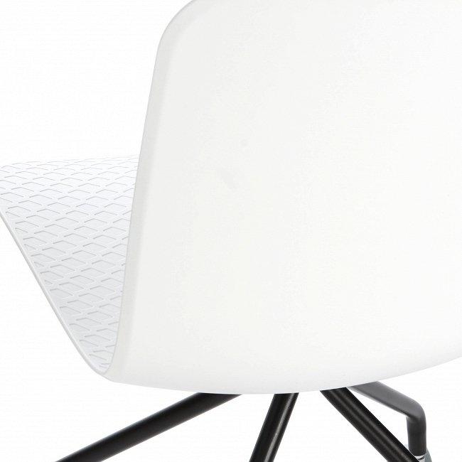 Стул Glide на колесиках белого цвета