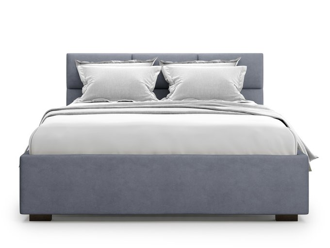 Кровать Bolsena без подъемного механизма 180х200 серого цвета