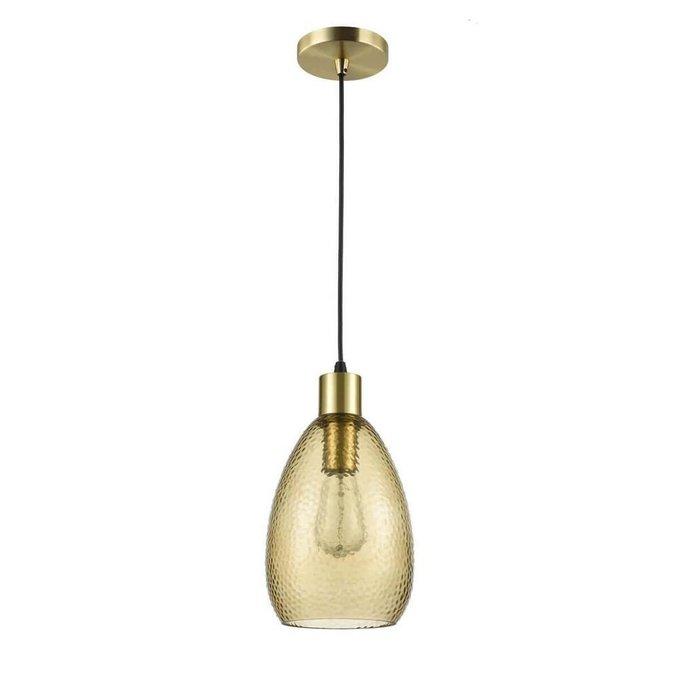 Подвесной светильник Placido янтарного цвета