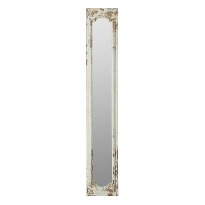 Зеркало с белой отделкой
