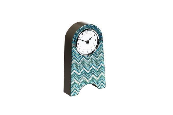 Часы настольные голубые