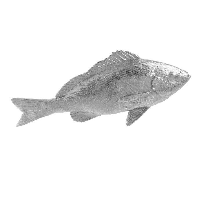 Декор настольный Рыба серебристого цвета