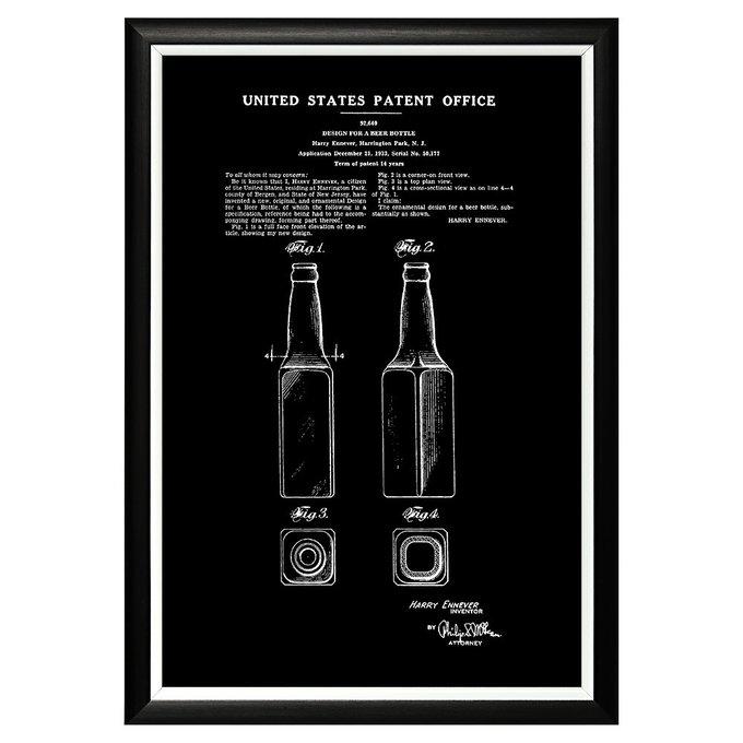 Арт-постер Патент на бутылку для пива