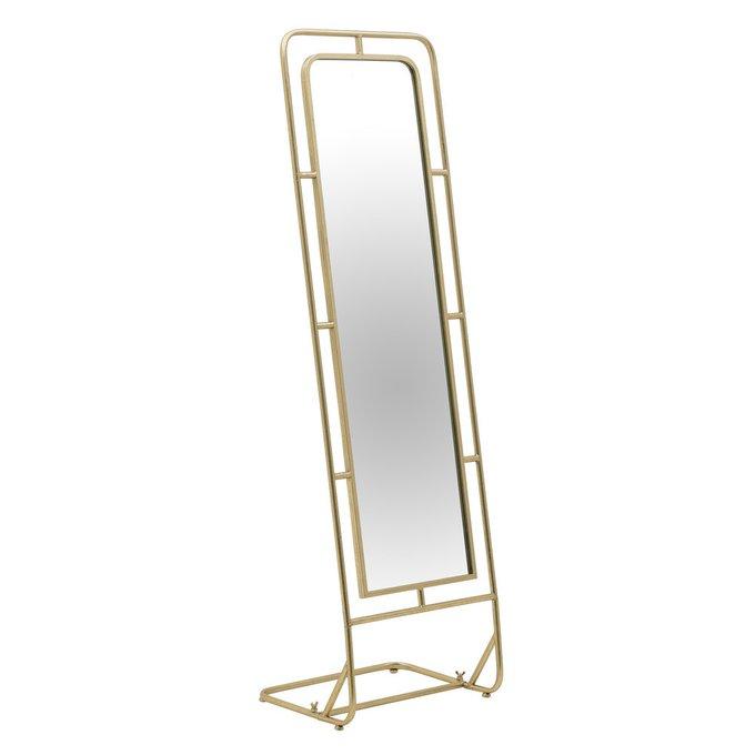 Зеркало напольное в раме золотого цвета