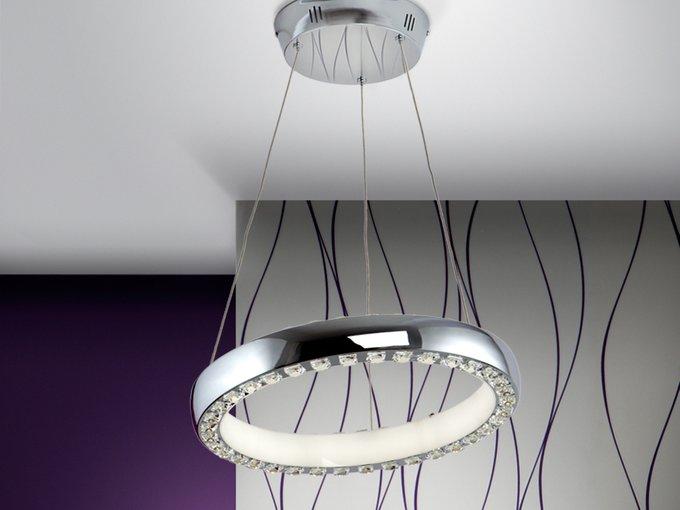Подвесной светильник Schuller Star с плафоном из пластика и стекла