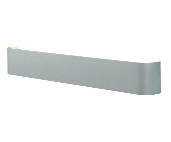 Настенный светодиодный светильник Трапеция серебряного цвета