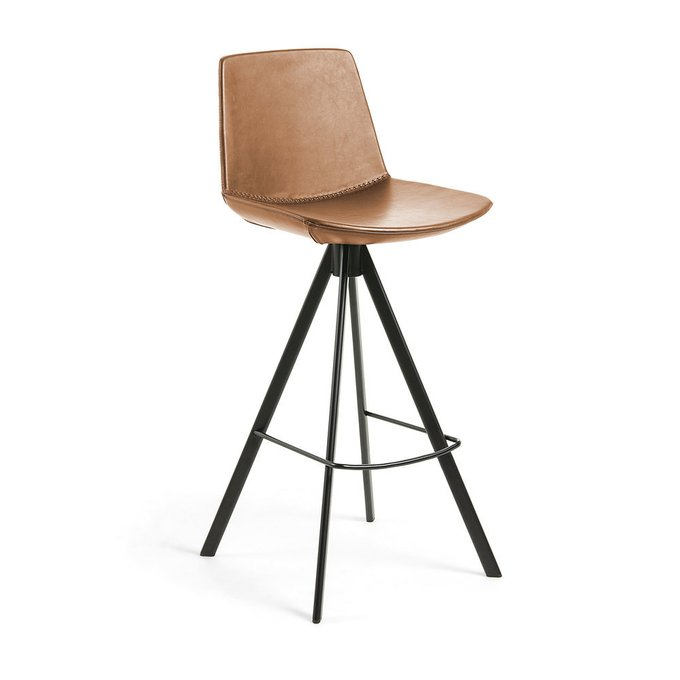 Барный стул Zast коричневого цвета