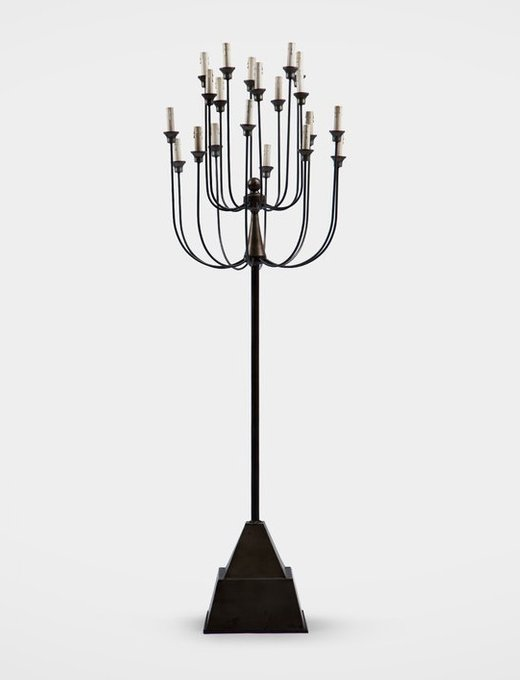 Лампа напольная из металла