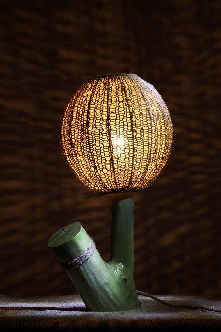 Настольная лампа Ветви и Тени  Шар Большой