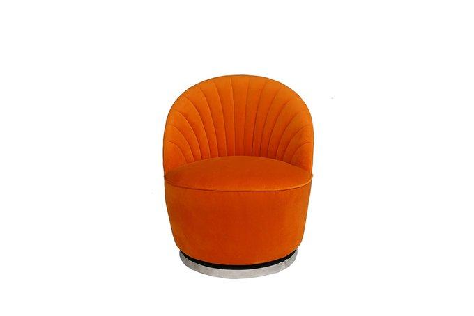 Кресло вращающееся оранжевого цвета