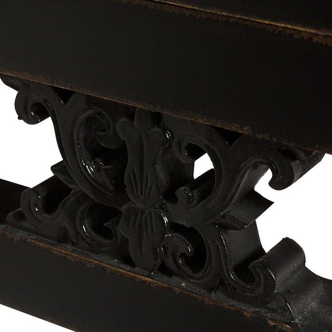 Шкаф с полками черного цвета