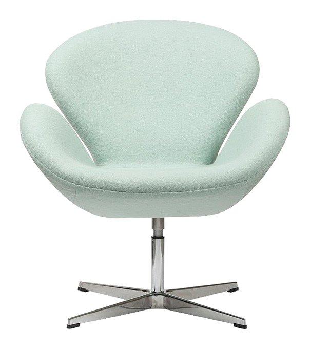 Кресло Swan Chair Tiffany светло-голубого цвета