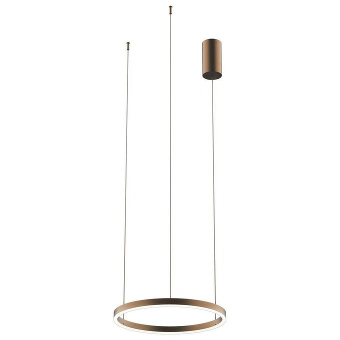 Подвесной светодиодный светильник Тор коричневого цвета