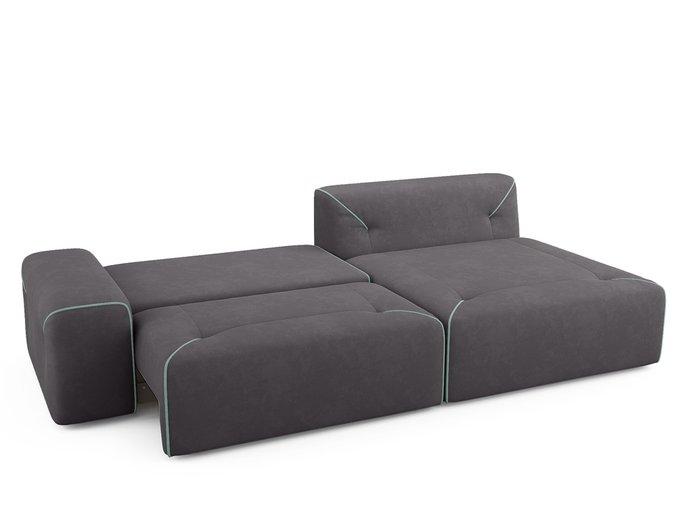 Угловой диван-кровать Portu темно-серого цвета