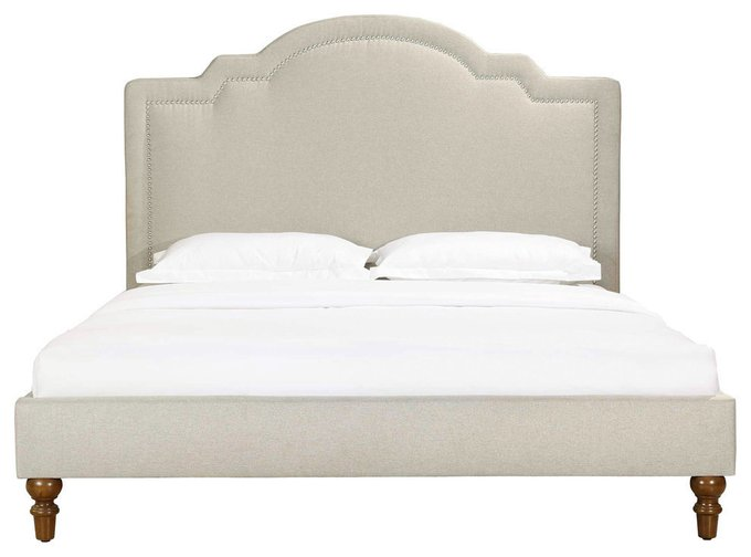 Кровать Cassis Upholstered бежевого цвета 160х200