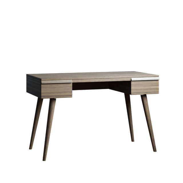 Письменный стол Lina table 140х80 с ящиками цвета пепельный орех