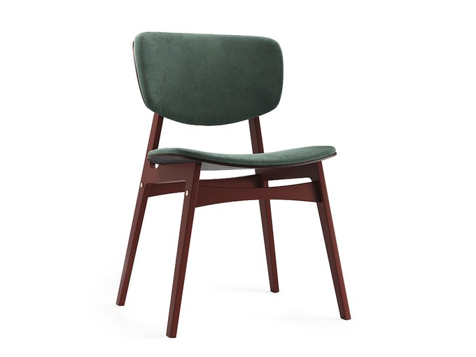 Мягкий стул Sid тёмная берёза / красно-коричневый