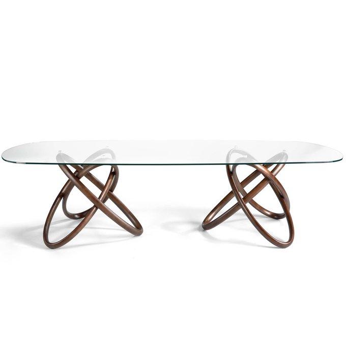 Обеденный стол с основанием из массива ясеня