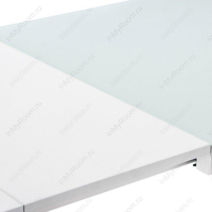 Обеденный раздвижной стол Ноэль белого цвета