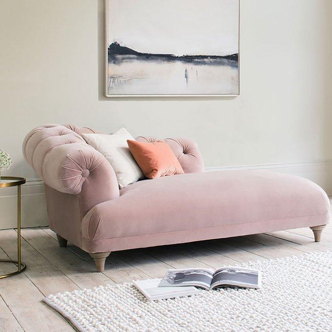 Кушетка Bagsie розового цвета