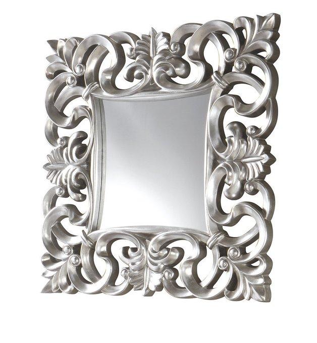 Настенное зеркало Dupen в раме серебряного цвета