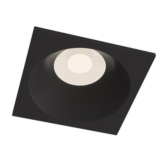 Встраиваемый светильник Zoom черного цвета