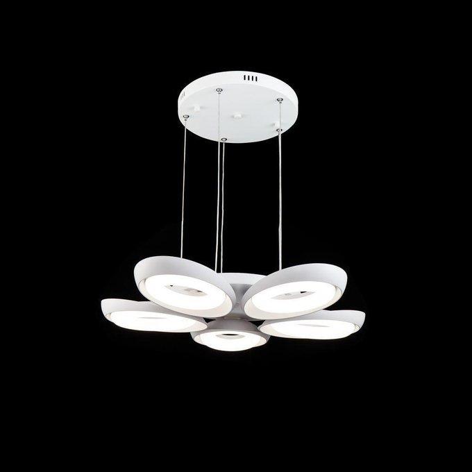 Подвесная светодиодная люстра Elena из металла и пластика
