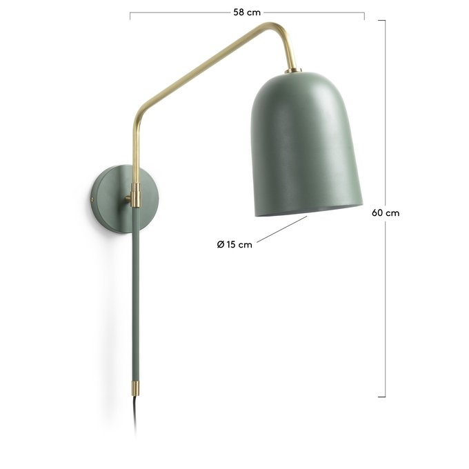 Настенный светильник Bjerne зеленого цвета