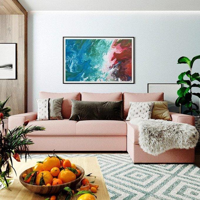 Угловой диван-кровать Матиас бежевого цвета