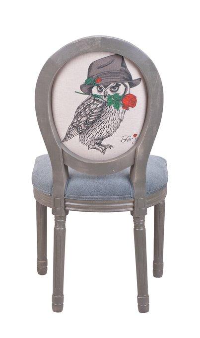 Интерьерный стул Volker owl ver. 3 серого цвета