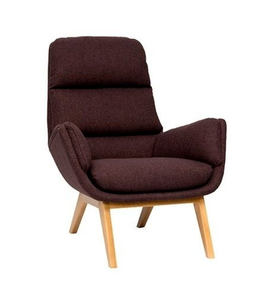 Кресло Orhus коричневого цвета
