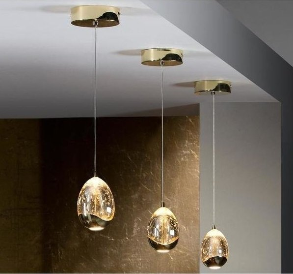Подвесной светодиодный светильник Schuller Rocio с плафоном из стекла