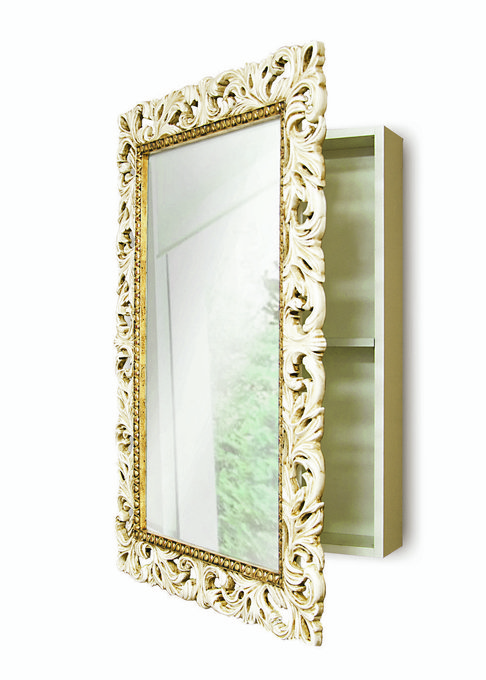 Зеркальный Шкаф с полочками