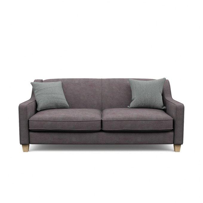 Трехместный диван Агата L коричневого цвета