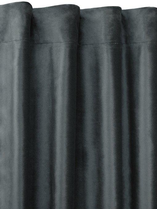 Штора велюр Teal черного цвета