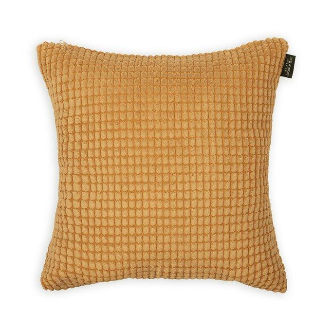 Декоративная подушка Civic Umber желтого цвета