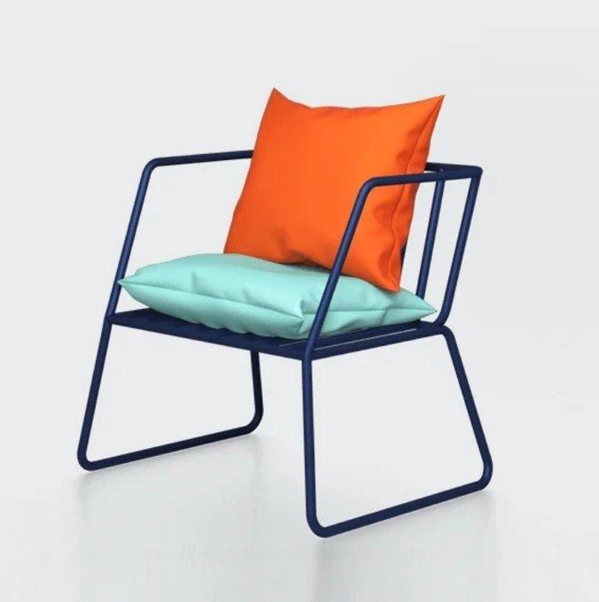 Кресло Bauhaus By Varya Schuka синего цвета
