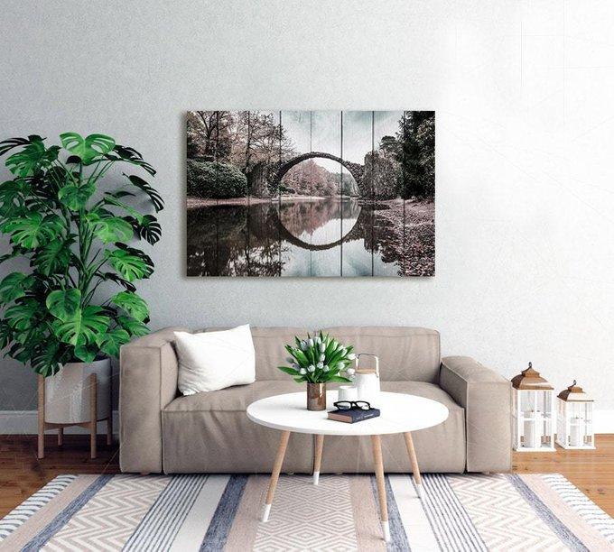 Картина на дереве Круглый мост 40х60