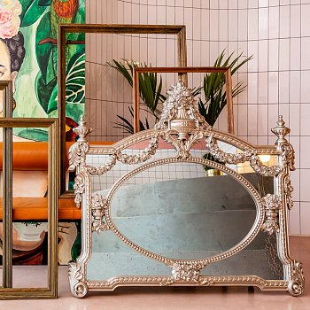 Настенное зеркало Сансет Голд золотого цвета