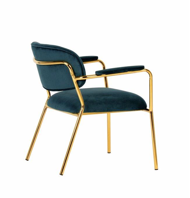 Кресло Кэрол синего цвета