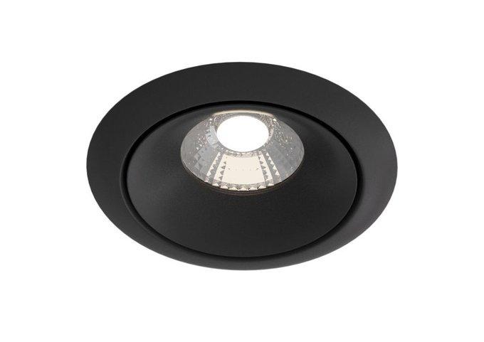 Встраиваемый светильник Yin черного цвета