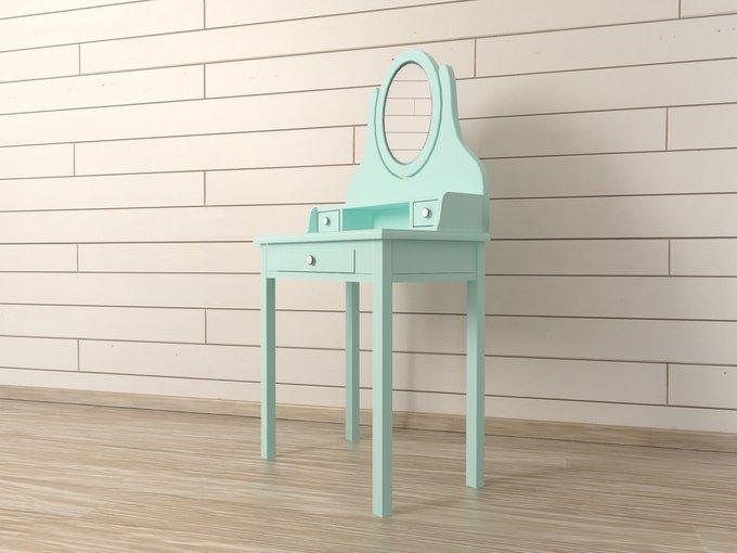 """Туалетный столик с зеркалом """"Adelina"""" в мятном цвете"""