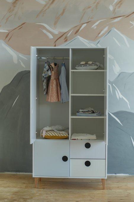 Детский шкаф Dreamy белого цвета