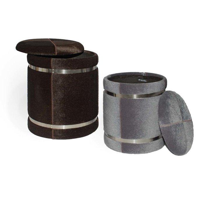 Набор из двух пуфиков Houston серого и коричневого цвета