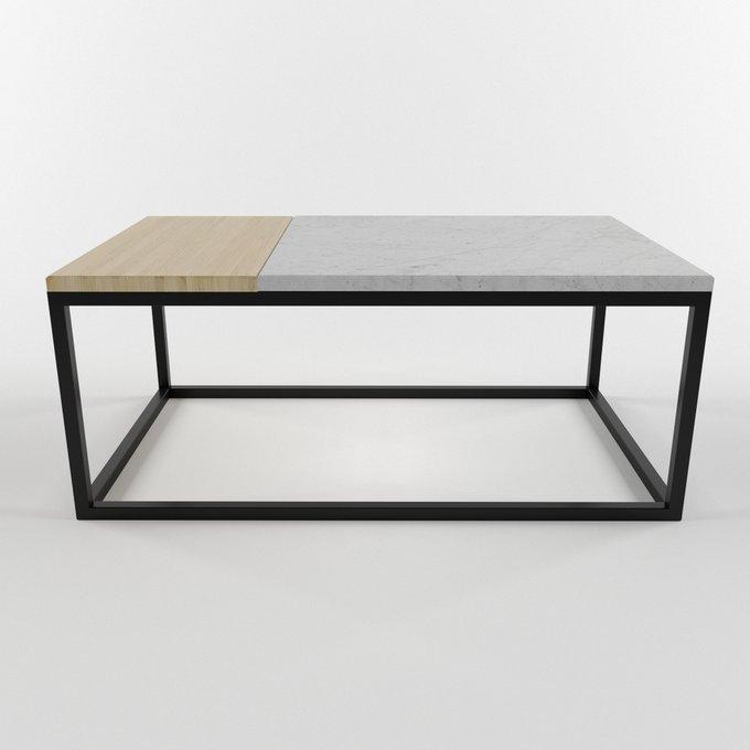 Журнальный столик с мраморной столешницей TOR light