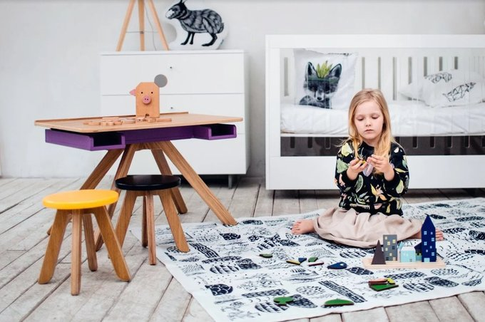 "Стол-мольберт MOONK ""Malevich"" M фиолетовый 4-8 лет"
