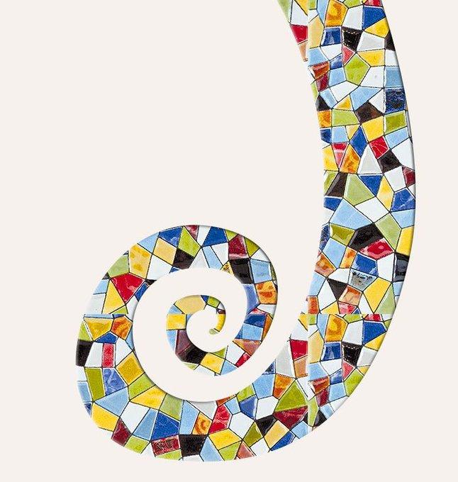 Картина (репродукция, постер): Макаки в мозаике