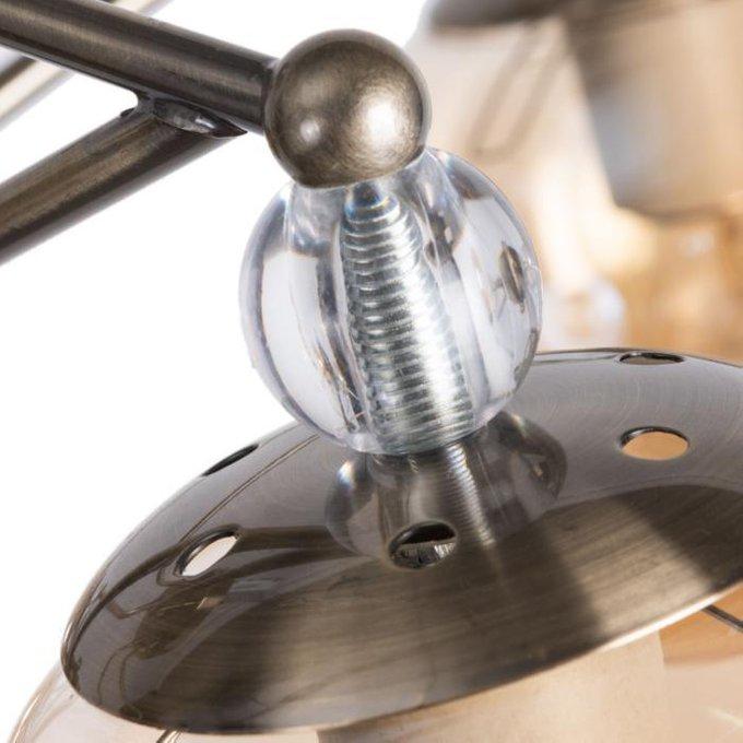 Потолочная люстра Enigma с коричневыми плафонами