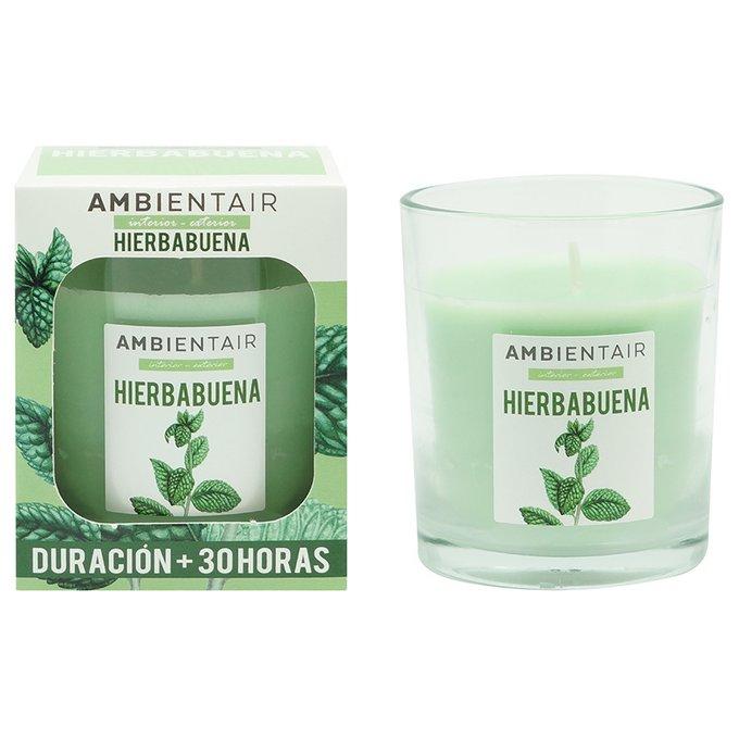 Свеча ароматическая Мята Garden светло-зеленого цвета
