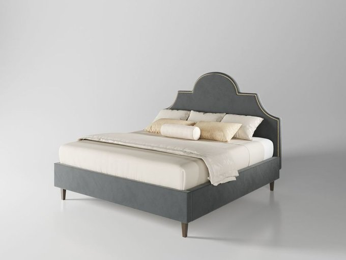 Кровать Бриэль 160х200 графитового цвета  с подъемным механизмом
